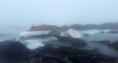 Wreckage of yacht off South African coast