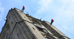 Abseiling Peterborough Cathedral