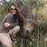 Image 5: Elizabeth Hurley with a baby rhino