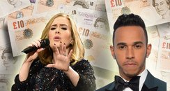 Lewis Hamilton and Adele - Rich List Canvas