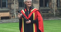 Judy Murray gets her degree at Glasgow Uni