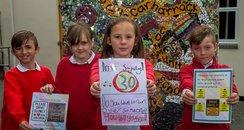 Children make speed warning posters