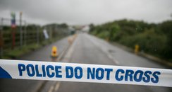 police tape shoreham aircrash