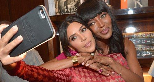 Kim Kardashian and Naomi Campbell selfie