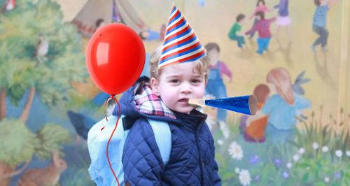 Prince George birthday spoof picture