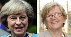 Theresa May and Hilary Armstrong