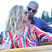 9. Beyonce and Jay Z cuddle up in new holiday photos.