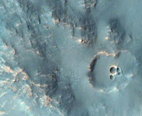 A crater on Mars