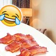 hotel put picture of bacon on pillow