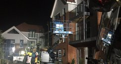 Romsey retirement flats fire