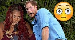 Prince Harry Antigua awkward dance honeymoon