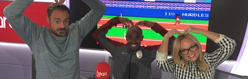 Mo Farah With Jamie And Emma