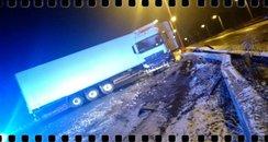 A23 jackknifed lorry