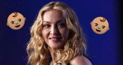 Madonna Getting Twin Girls Canvas