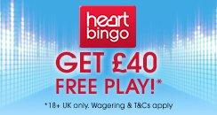 Get 40 free - heart bingo 244