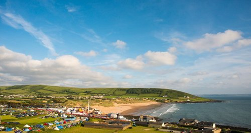 The GoldCoast Oceanfest site in Croyde.