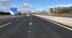 M8 roadworks baillieston