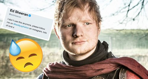 Ed Sheeran brings back Twitter account following 'Game of Thrones' cameo backlash