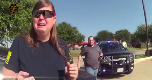 WATCH: Policeman's Surprise Proposal Prank Almost