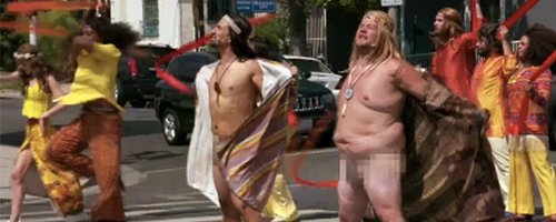 Singing James Corden Crosses The Road Stark NAKED