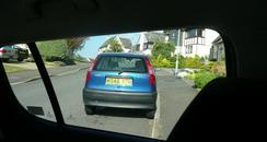 Drivers view reversing out of drive